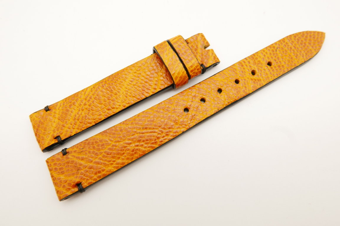 14mm/14mm Orange Genuine OSTRICH Skin Leather Watch Strap Band #WT5239