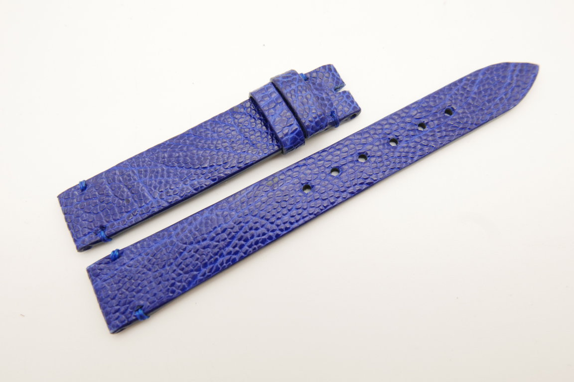 14mm/14mm Cobalt Blue Genuine OSTRICH Skin Leather Watch Strap Band #WT5245