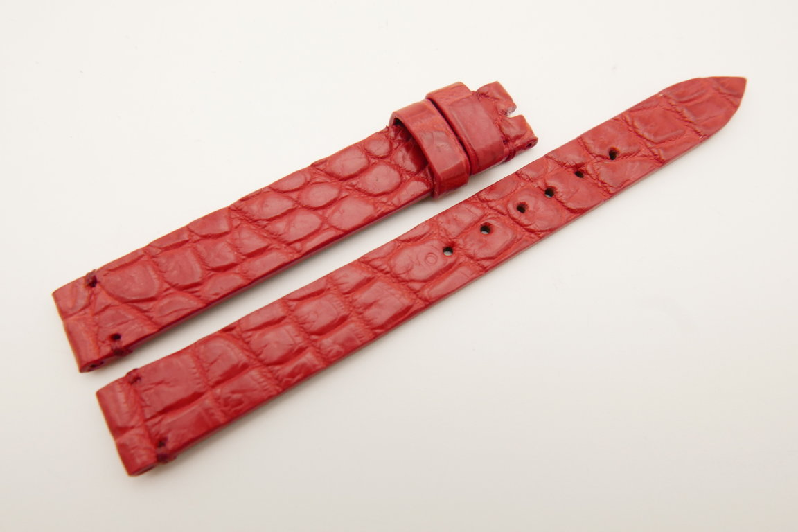12mm/12mm Red Genuine CROCODILE Skin Leather Watch Strap Band #WT5204