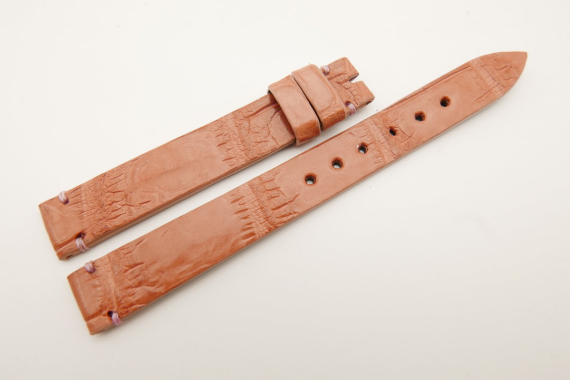 12mm/12mm Pink Genuine CROCODILE Skin Leather Watch Strap Band #WT5214