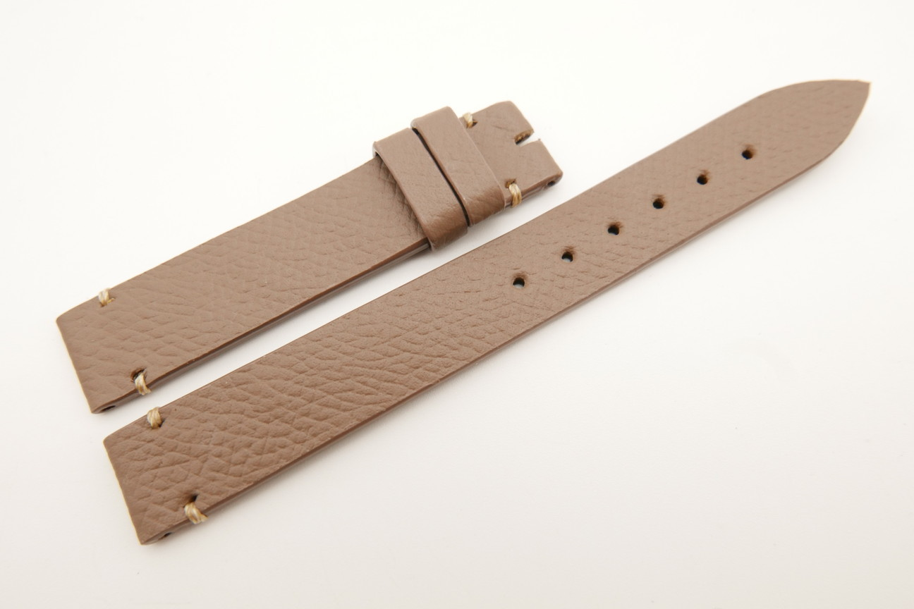 14mm/14mm Taupe Genuine EPSOM CALF Skin Leather Watch Strap Band #WT5290