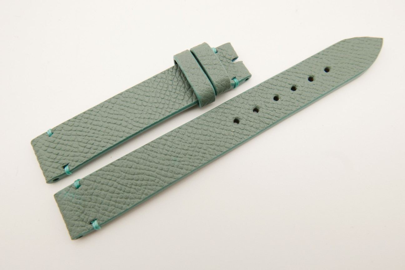 14mm/14mm Jade Green Genuine EPSOM CALF Skin Leather Watch Strap Band #WT5301